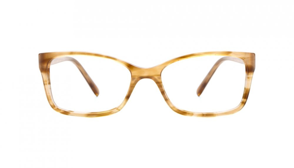 Affordable Fashion Glasses Rectangle Eyeglasses Women Dancer Caramel Crunch Front