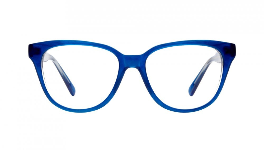 Affordable Fashion Glasses Round Eyeglasses Women It Girl Riviera Blue Front