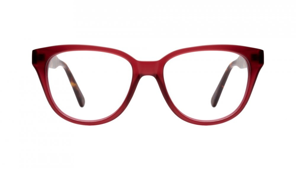 Affordable Fashion Glasses Round Eyeglasses Women It Girl Frosted Cherry Front