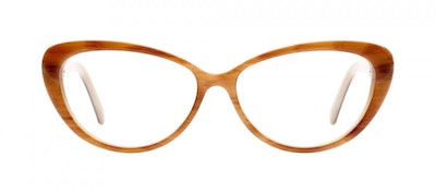 Affordable Fashion Glasses Cat Eye Eyeglasses Women Glamazon Brown Sugar Front