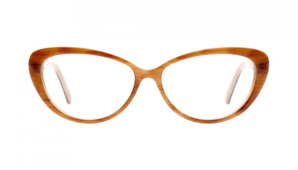 Affordable Fashion Glasses Cat Eye Eyeglasses Women Glamazon Brown Sugar Front