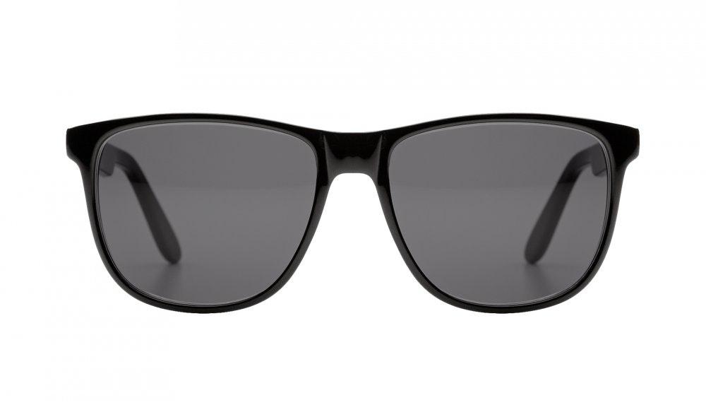Affordable Fashion Glasses Square Sunglasses Men Women Free Spirit Black Front