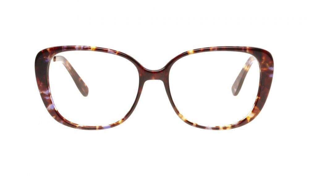 Affordable Fashion Glasses Square Eyeglasses Women Japonisme Lilac Tortoise Front