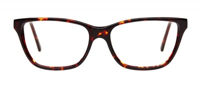 Affordable Fashion Glasses Rectangle Eyeglasses Women Honeybadger Chocolate Tortoise Front