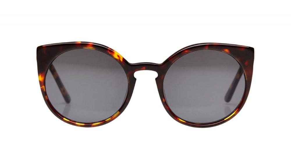 Affordable Fashion Glasses Round Sunglasses Women Franny Tortoise Front