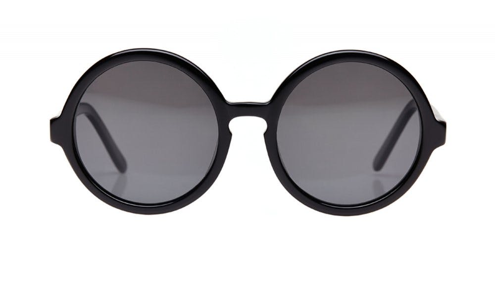 Affordable Fashion Glasses Round Sunglasses Women Apfel Black Front