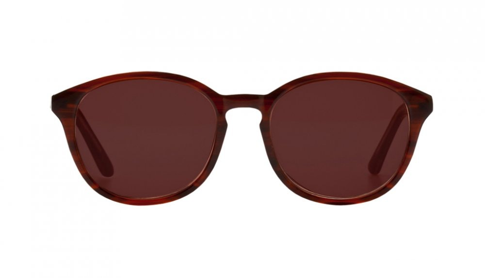 Affordable Fashion Glasses Round Sunglasses Women Simply Fabulous Brown Front