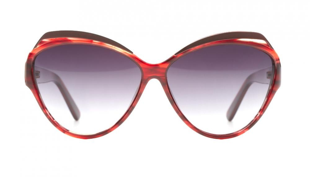 Affordable Fashion Glasses Cat Eye Sunglasses Women Rococo Carmine Front