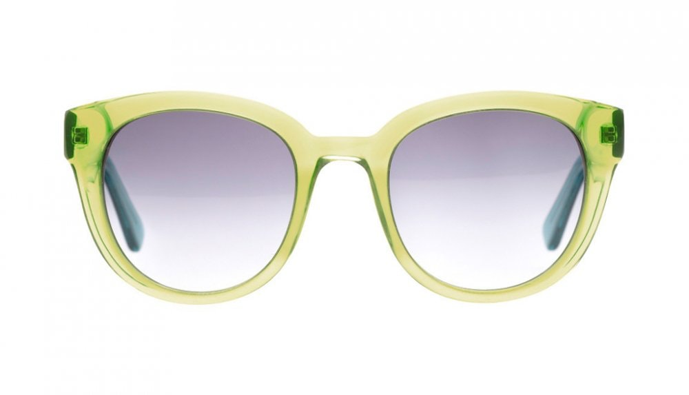 Affordable Fashion Glasses Round Sunglasses Women Russian Doll Olive Front