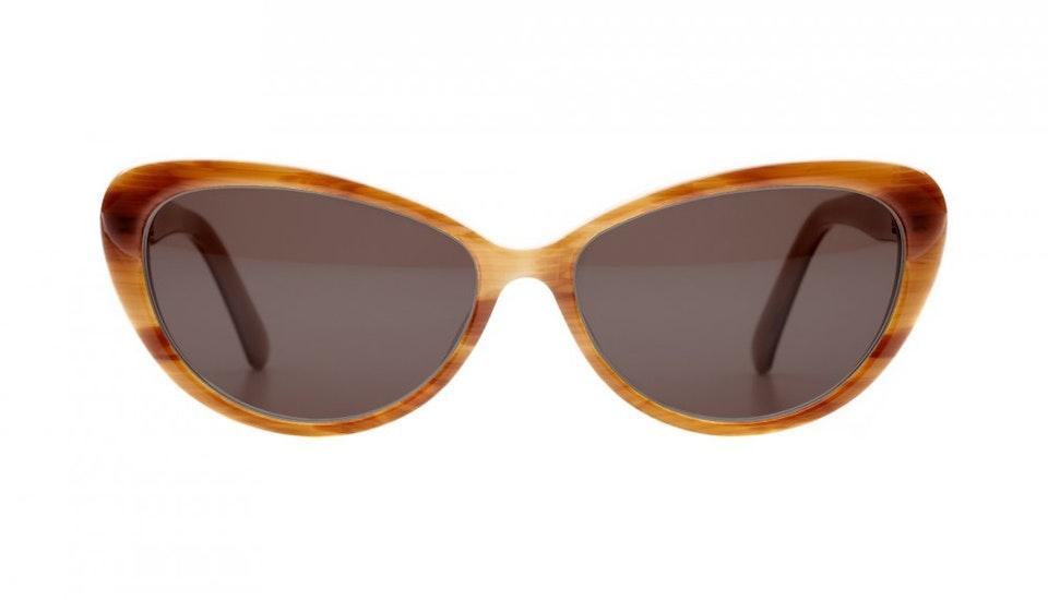 Affordable Fashion Glasses Cat Eye Sunglasses Women Glamazon Brown Sugar Front