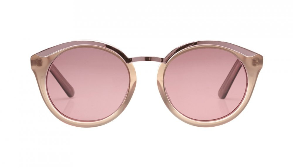 Affordable Fashion Glasses Round Sunglasses Women Lunar Rose Front