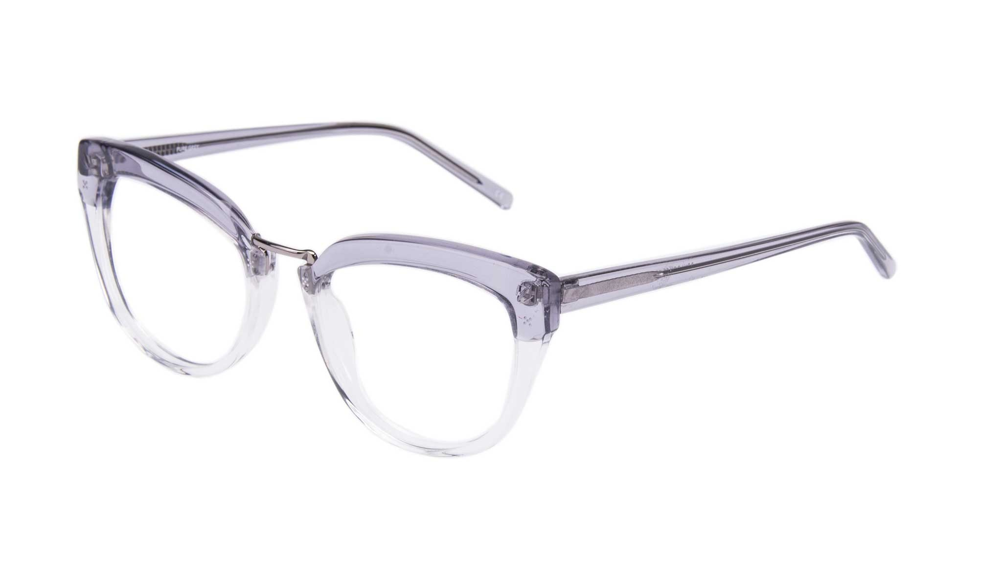 Affordable Fashion Glasses Cat Eye Eyeglasses Women Pure Grey Tilt
