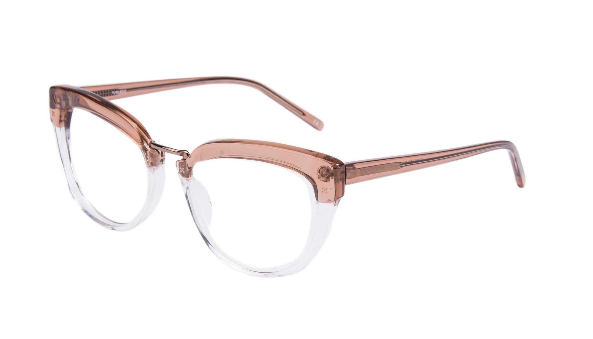 Affordable Fashion Glasses Cat Eye Daring Cateye Eyeglasses Women Pure Rose Tilt