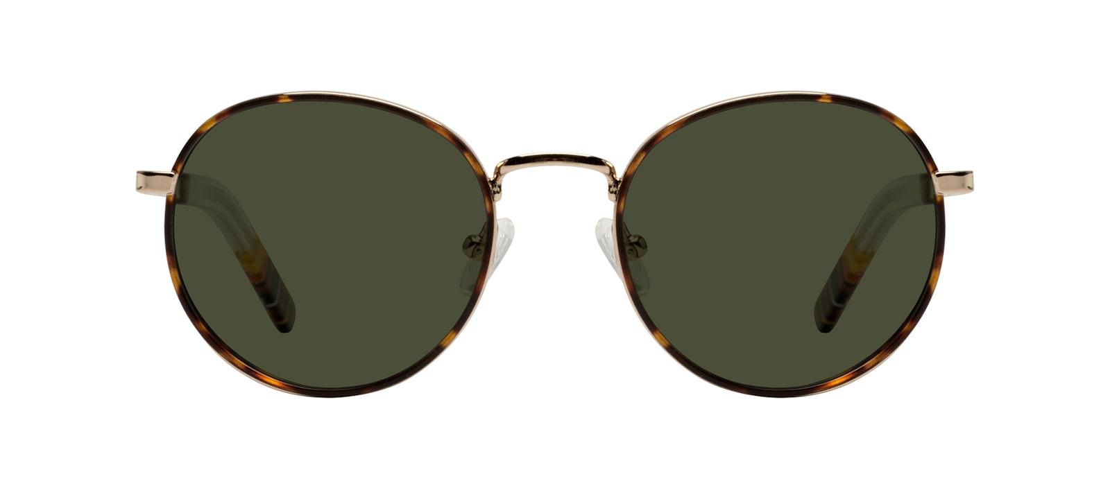 Affordable Fashion Glasses Round Sunglasses Men Reach Tortoise Front