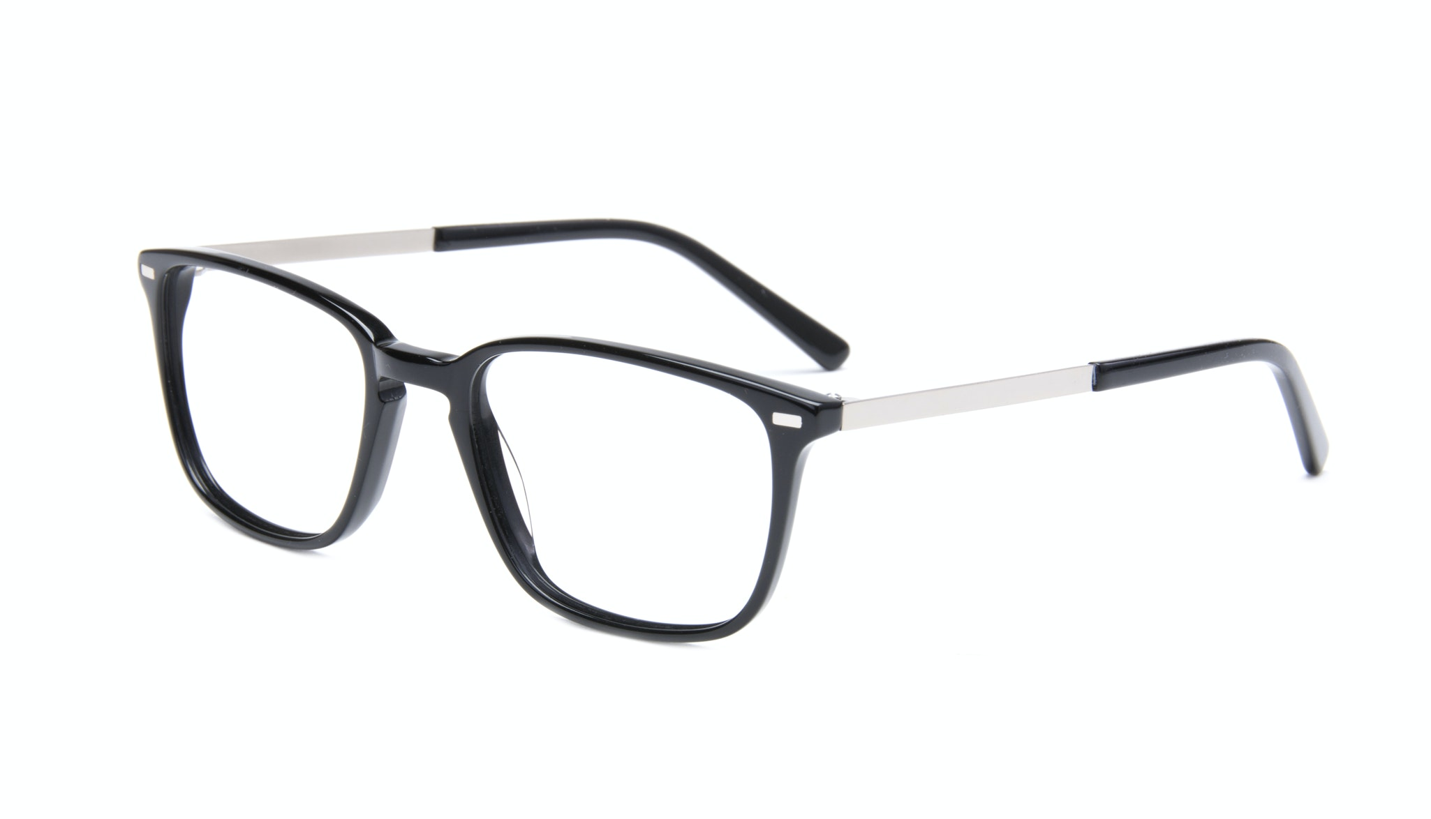 Affordable Fashion Glasses Rectangle Eyeglasses Men Sharp Black Tilt