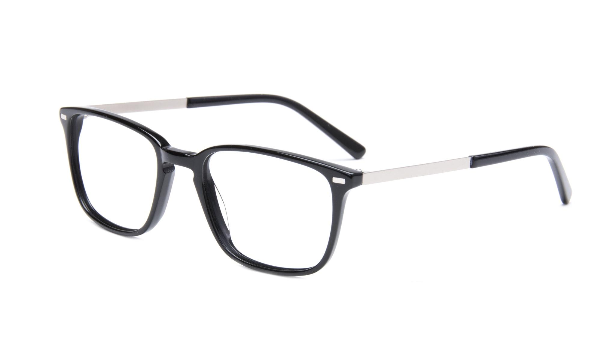 Affordable Fashion Glasses Rectangle Eyeglasses Men Sharp Black Tilt
