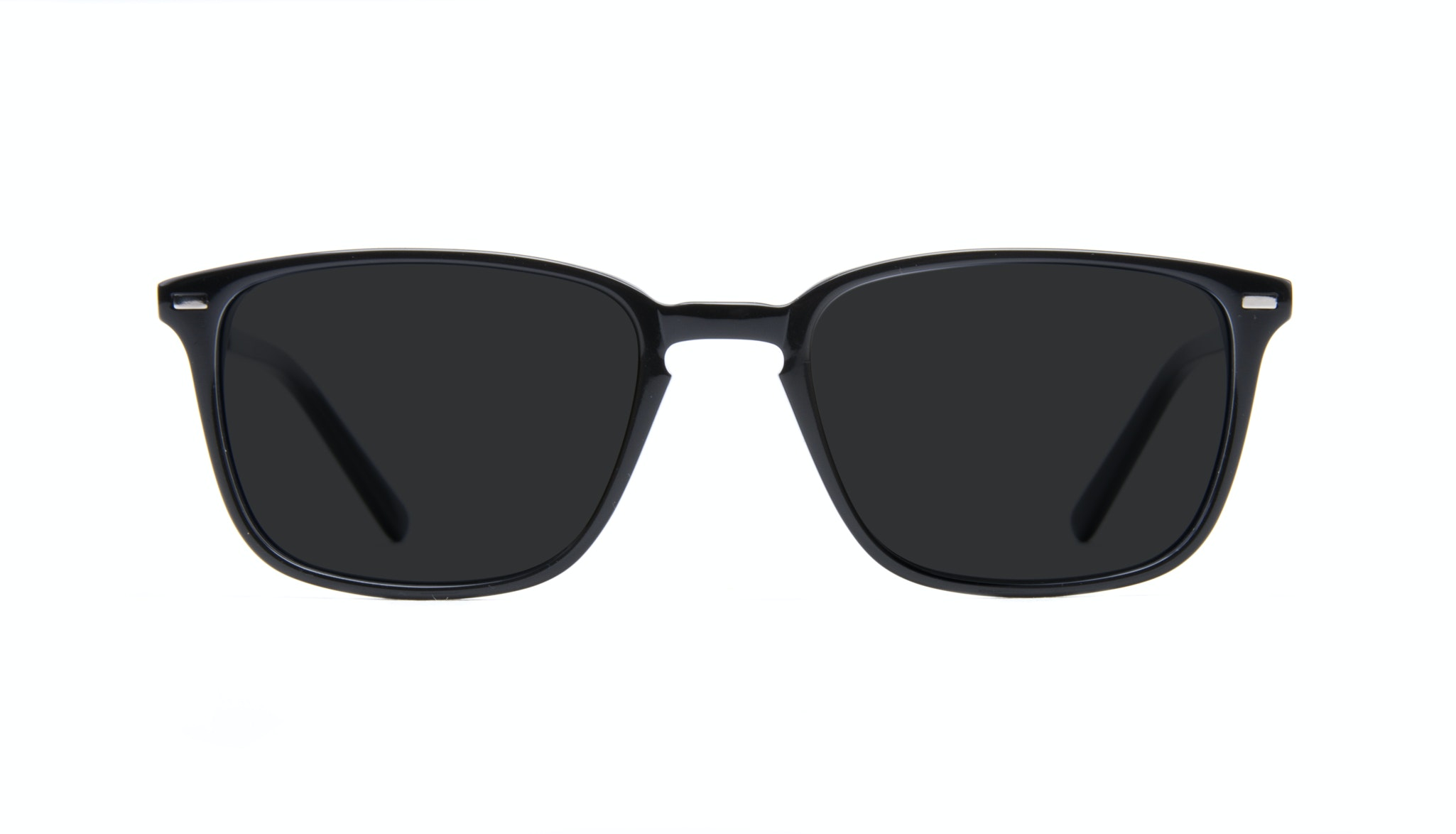Lunettes tendance Rectangle Lunettes de soleil Hommes Sharp Black Face