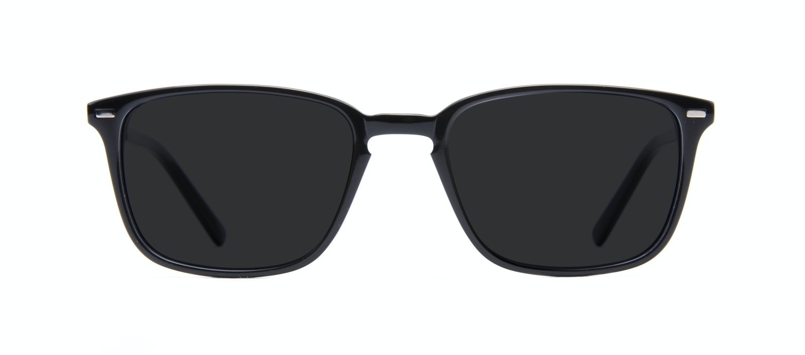 Affordable Fashion Glasses Rectangle Sunglasses Men Sharp Black Front