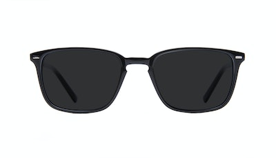 Affordable Fashion Glasses Rectangle Sunglasses Men Sharp L Black Front