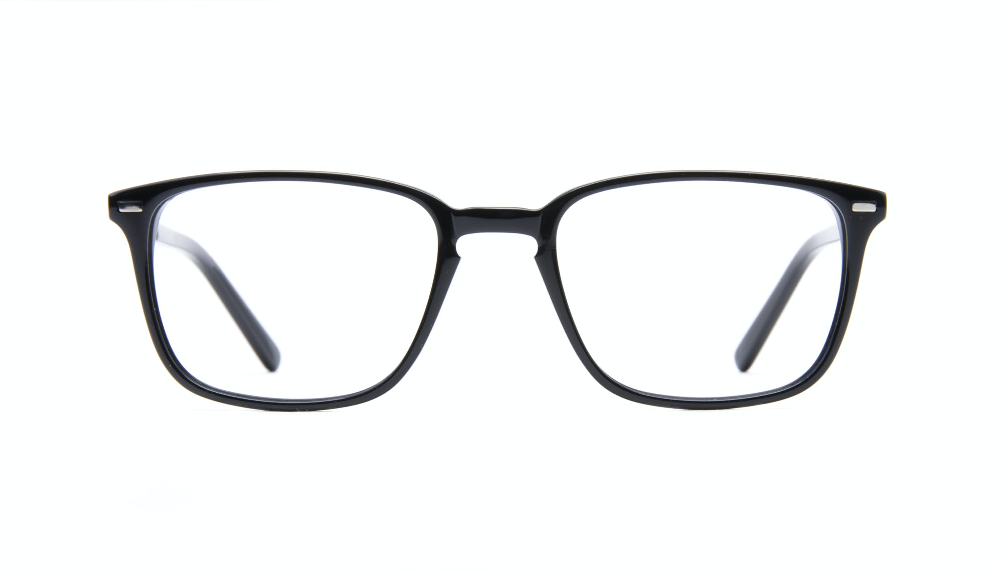 Affordable Fashion Glasses Rectangle Eyeglasses Men Sharp Black Front