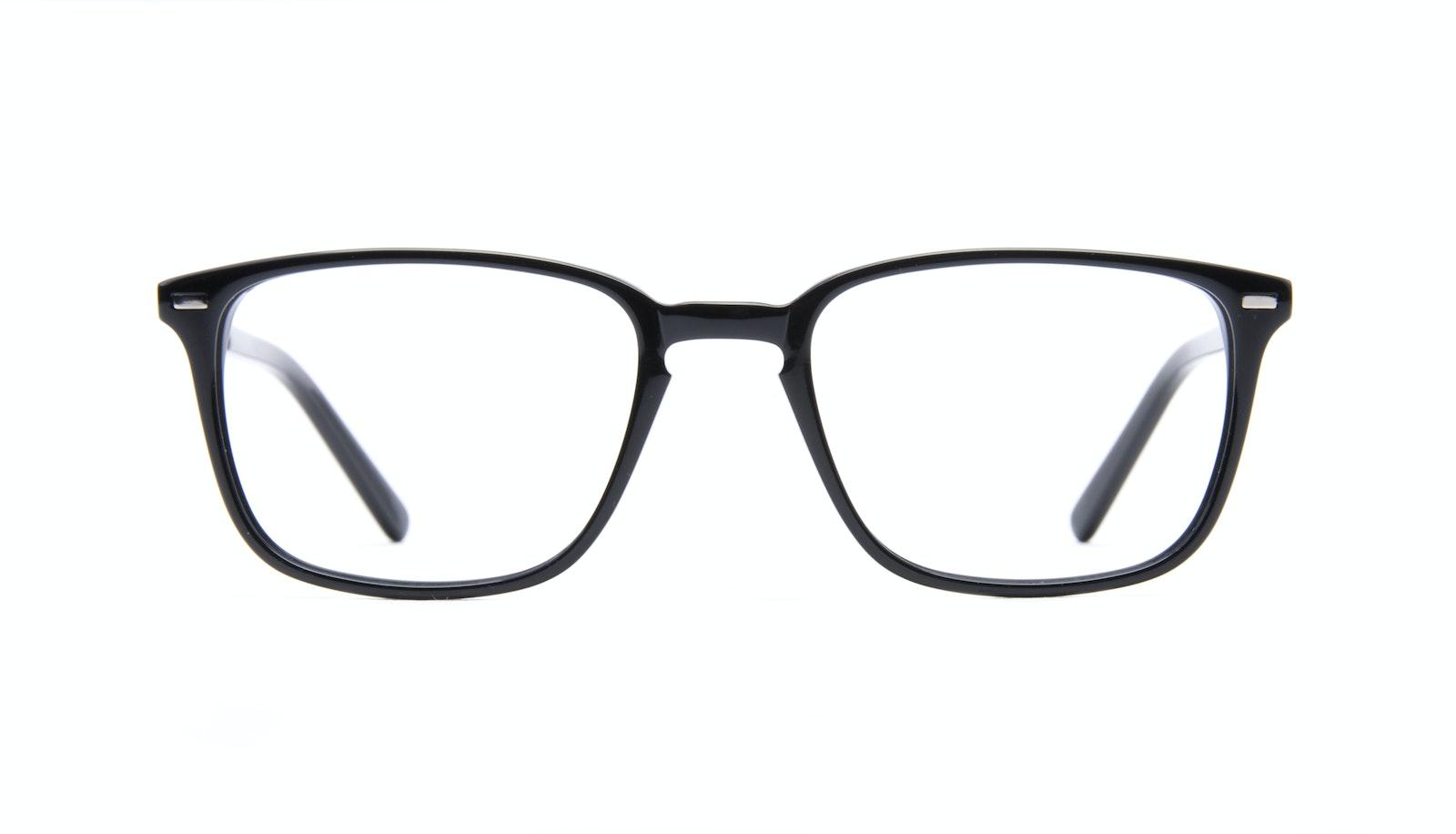 Lunettes tendance Rectangle Lunettes de vue Hommes Sharp Black