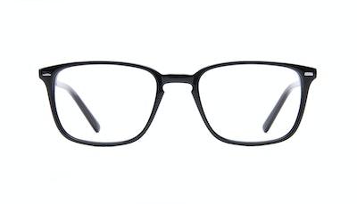 Affordable Fashion Glasses Rectangle Eyeglasses Men Sharp L Black Front