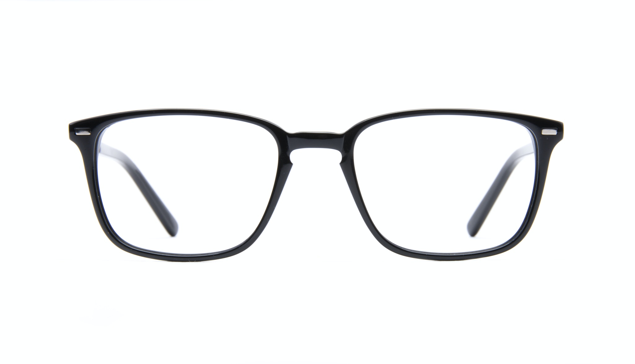 Affordable Fashion Glasses Rectangle Eyeglasses Men Sharp Black