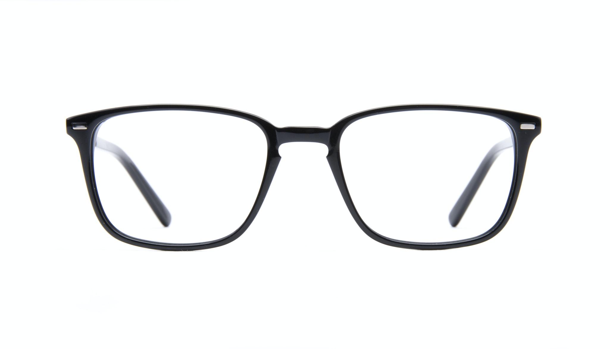 Affordable Fashion Glasses Rectangle Eyeglasses Men Sharp Black Front