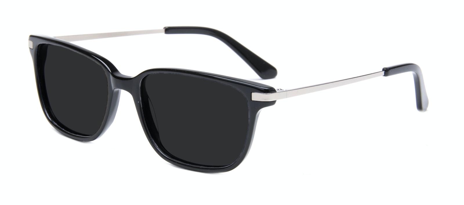 Affordable Fashion Glasses Rectangle Sunglasses Men Trade Black Tilt
