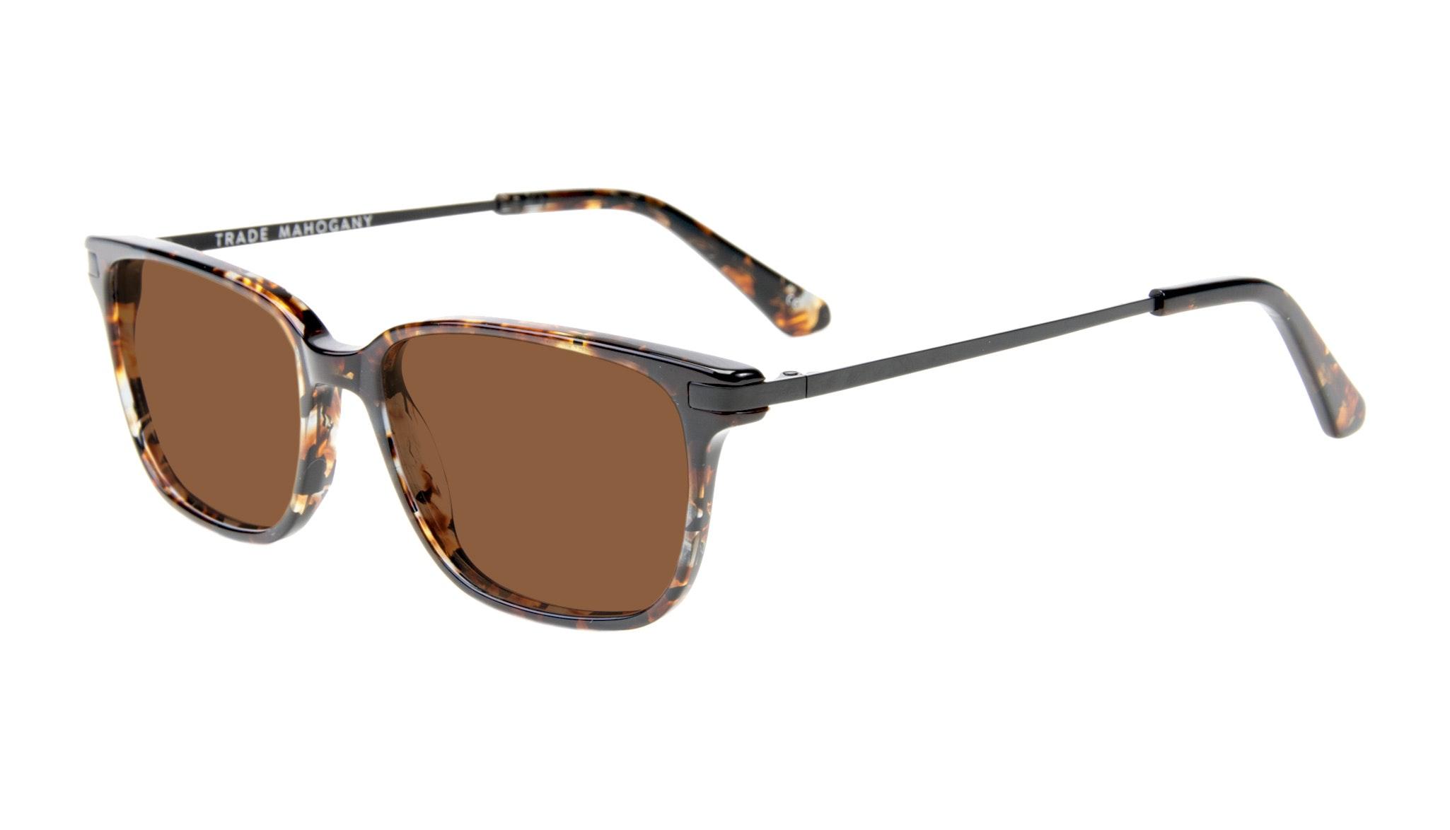 Affordable Fashion Glasses Rectangle Sunglasses Men Trade Mahogany Tilt