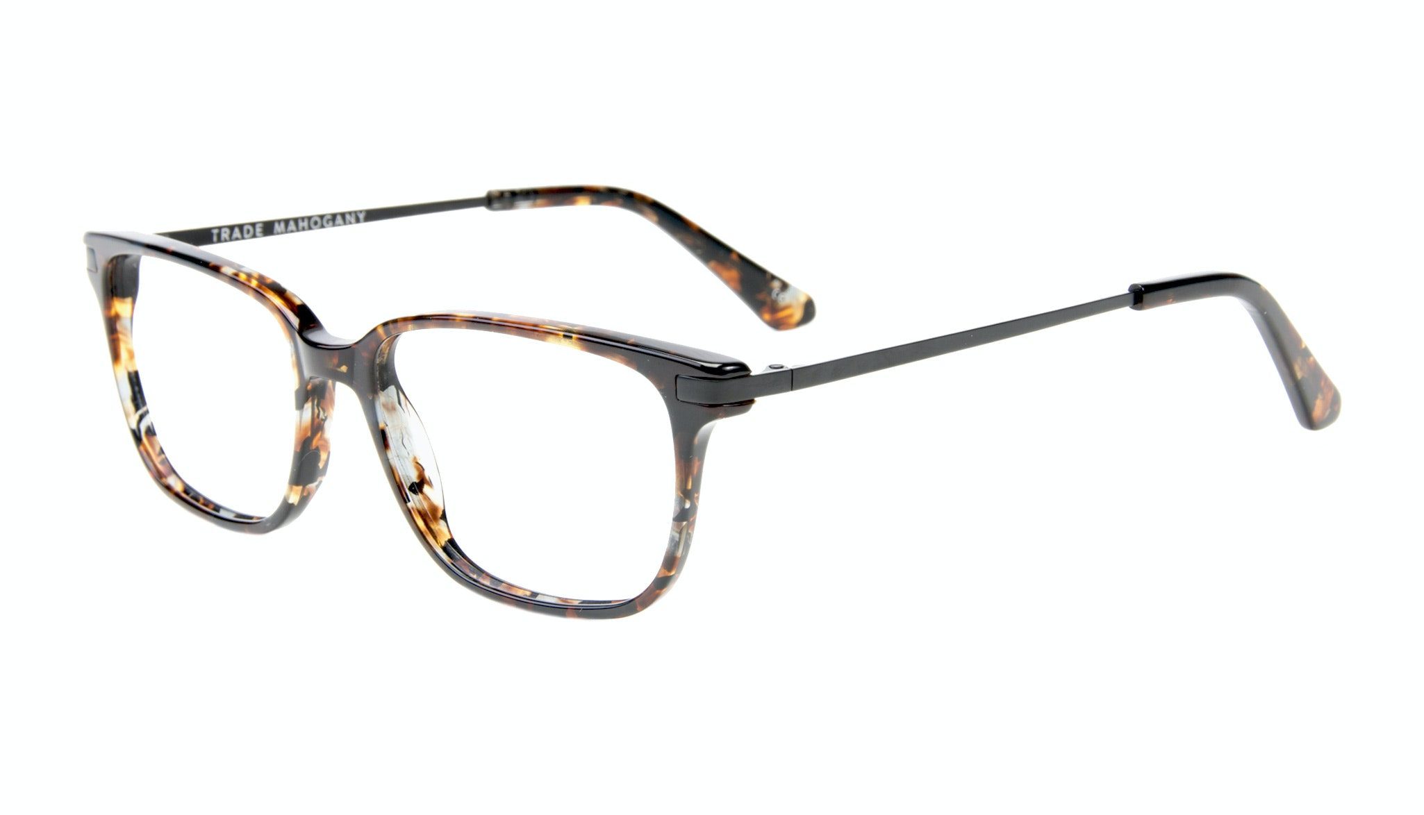 Affordable Fashion Glasses Rectangle Eyeglasses Men Trade Mahogany Tilt