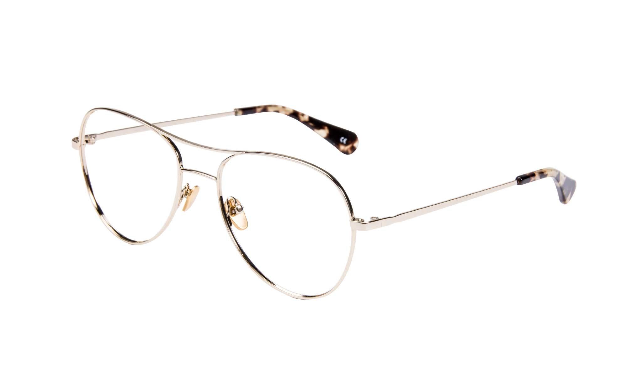 Affordable Fashion Glasses Aviator Eyeglasses Women Want Gold Tilt