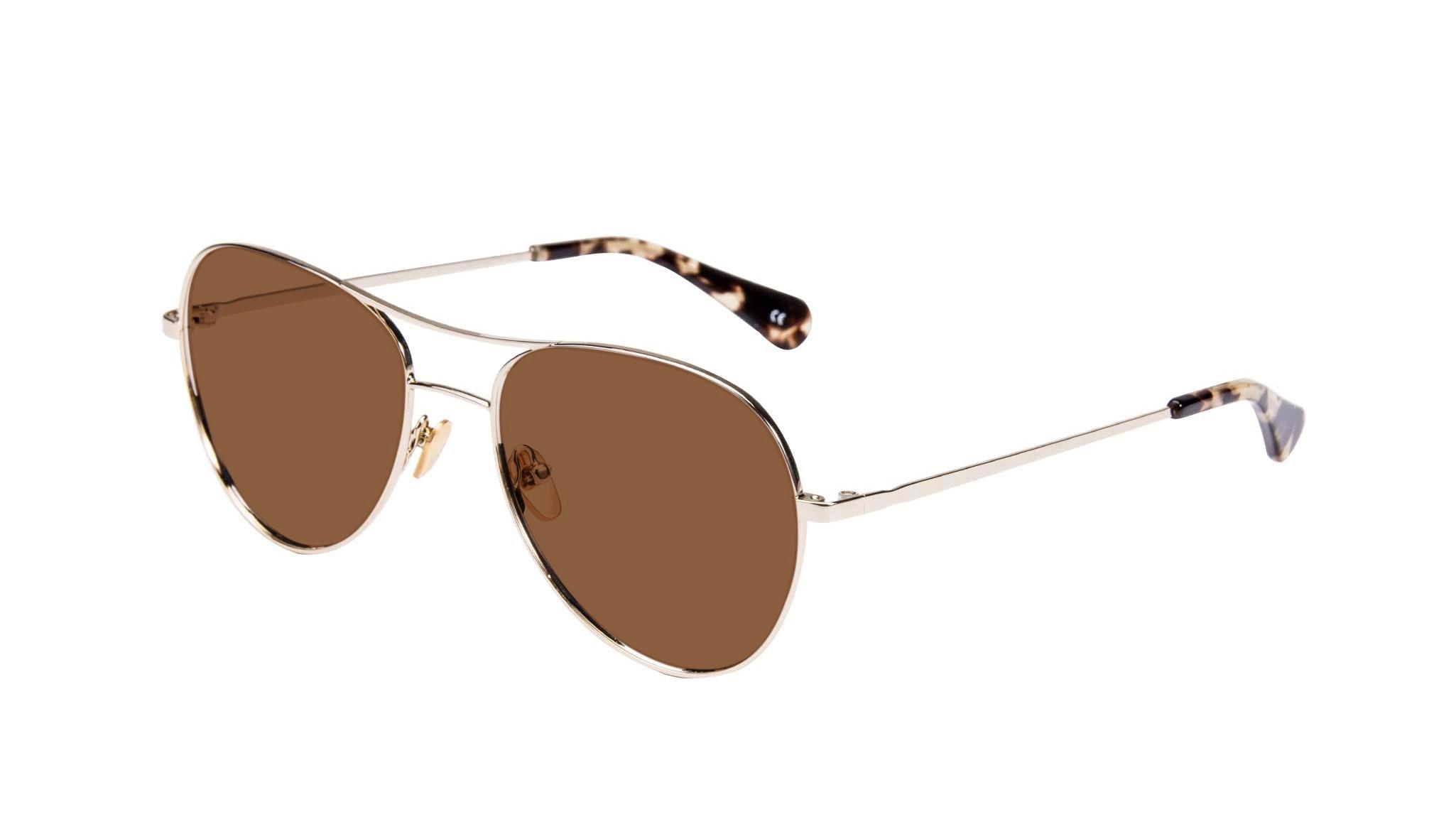 Affordable Fashion Glasses Aviator Sunglasses Women Want Gold Tilt