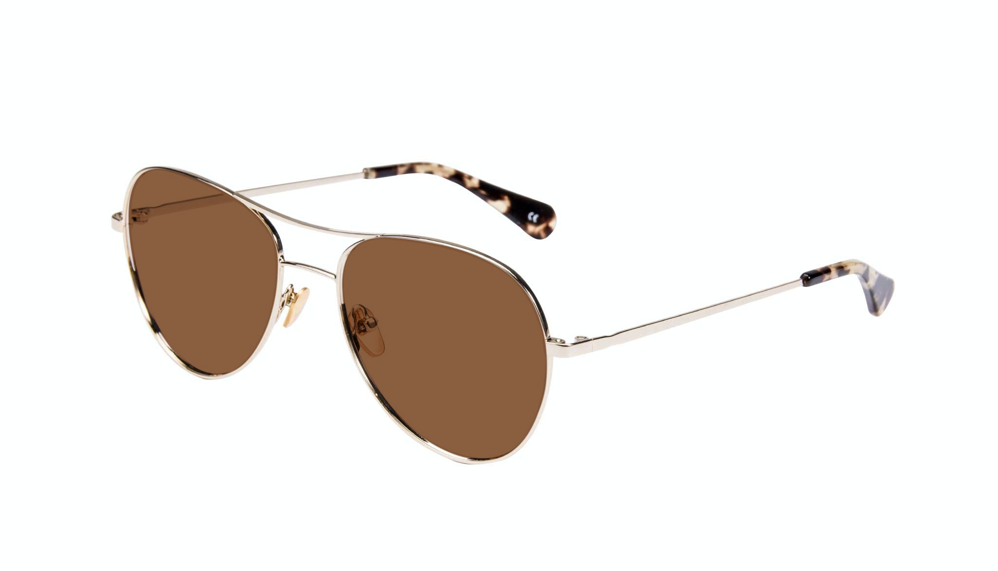 Affordable Fashion Glasses Aviator Sunglasses Women Want Gold Tilt