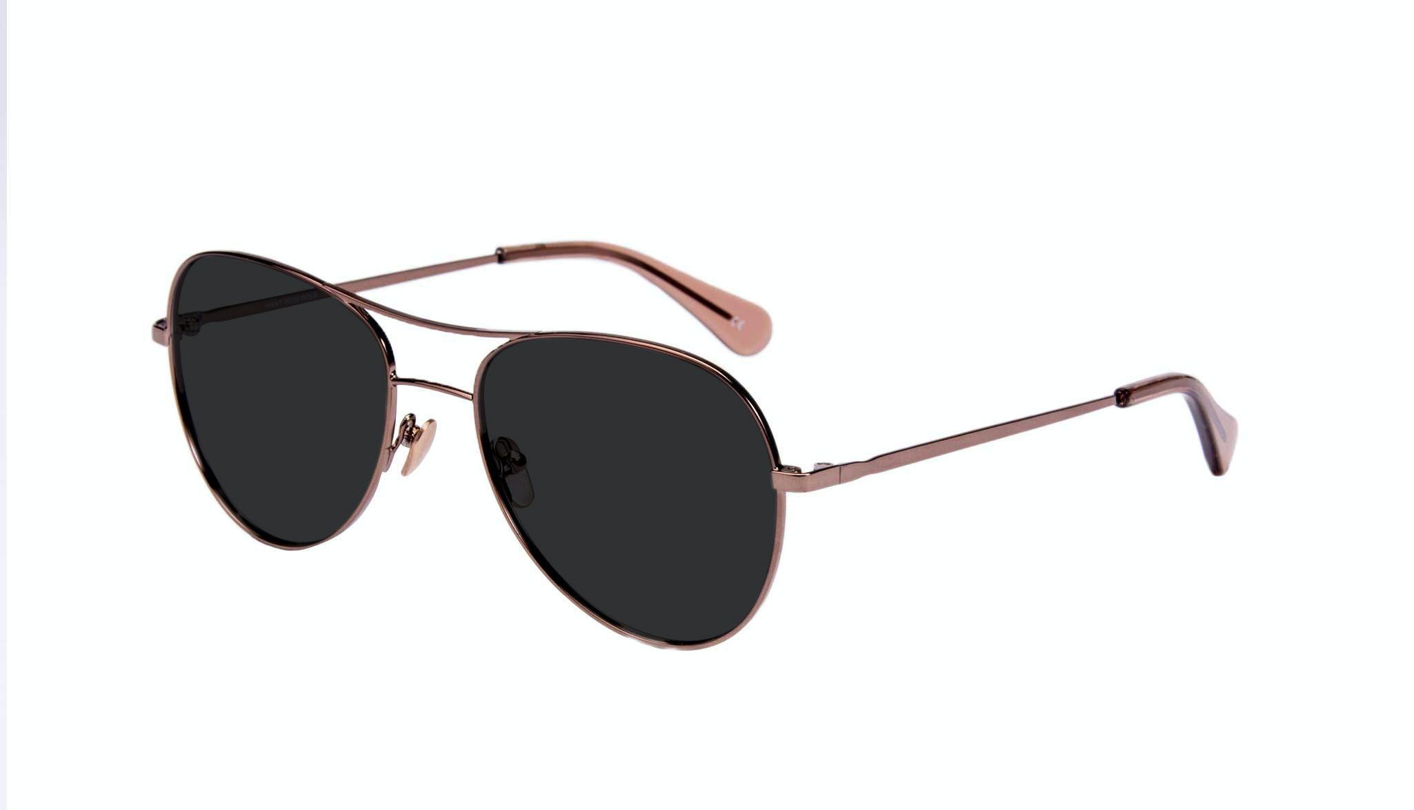 Affordable Fashion Glasses Aviator Sunglasses Women Want Rose Gold Tilt