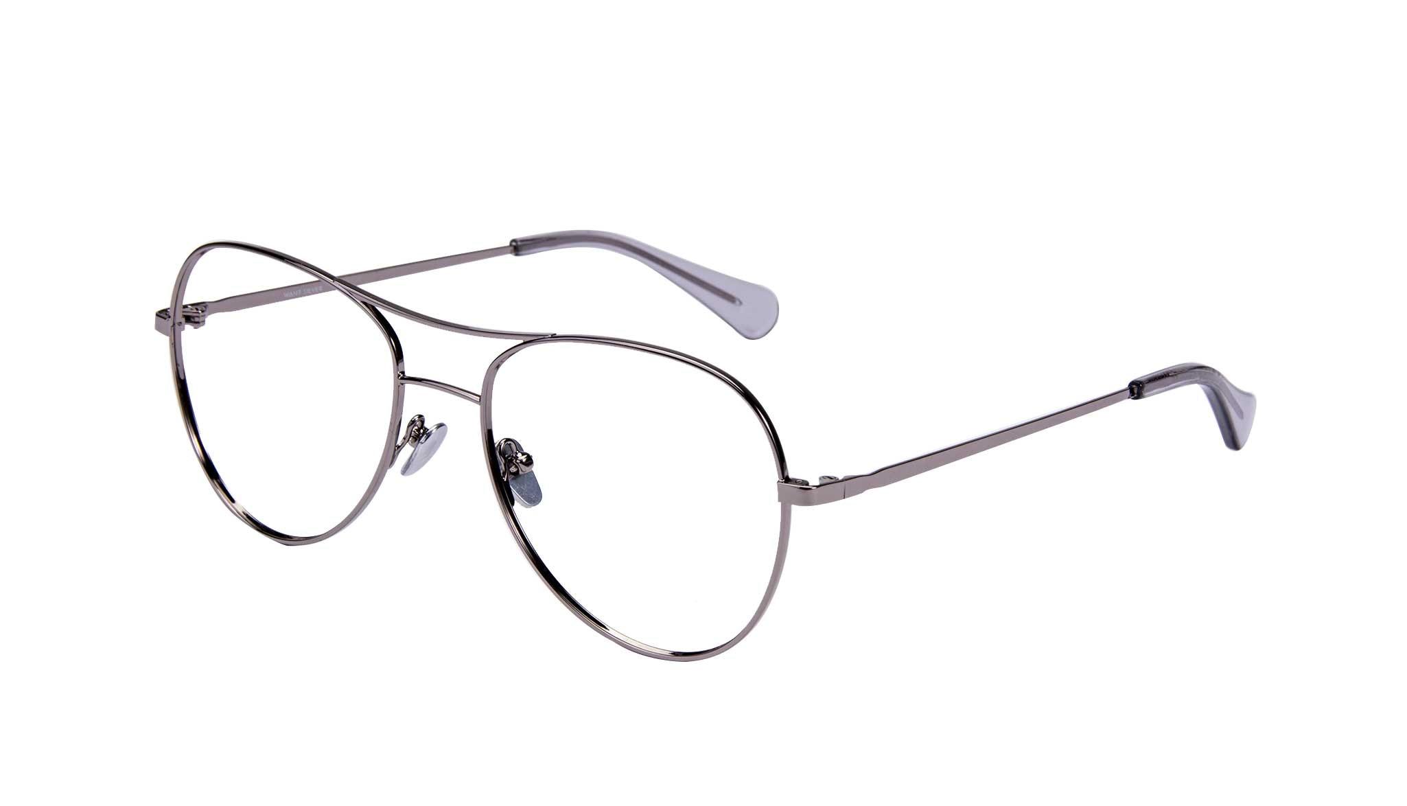 Affordable Fashion Glasses Aviator Eyeglasses Women Want Silver Tilt